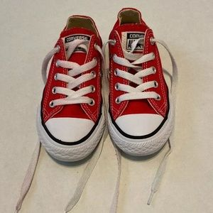 Youth converse size 11 red